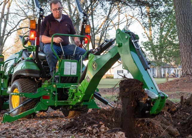 John Deere 375a Backhoe : Compact utility tractor attachments tri county equipment